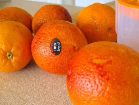Whole blood oranges